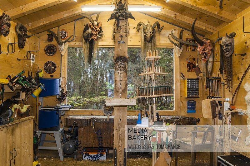 Photo By Westend 61 Wood Carvers Workshop With Handmade Krampus Masks