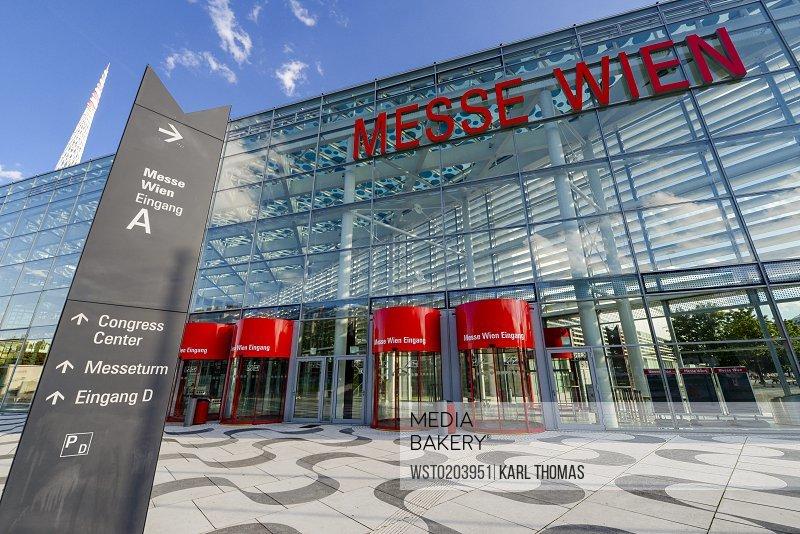 Austria Vienna Trade Fair of Vienna signpost