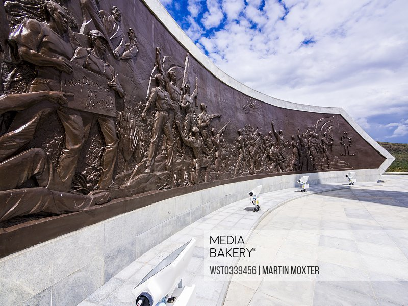 Namibia, Windhoek, Heroes' Acre, Heroes Memorial, struggle for independence, relief with soldiers