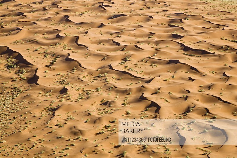 Africa, Namibia, Dunes in the Namib Desert, Aerial view