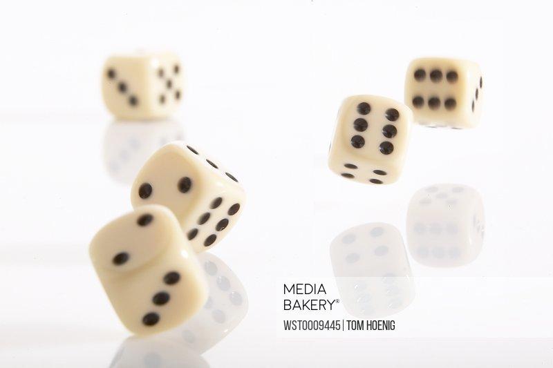 Falling dice