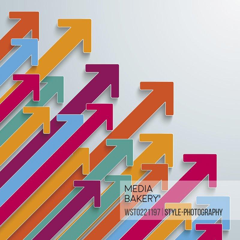 Colorful arrows, vector graphics