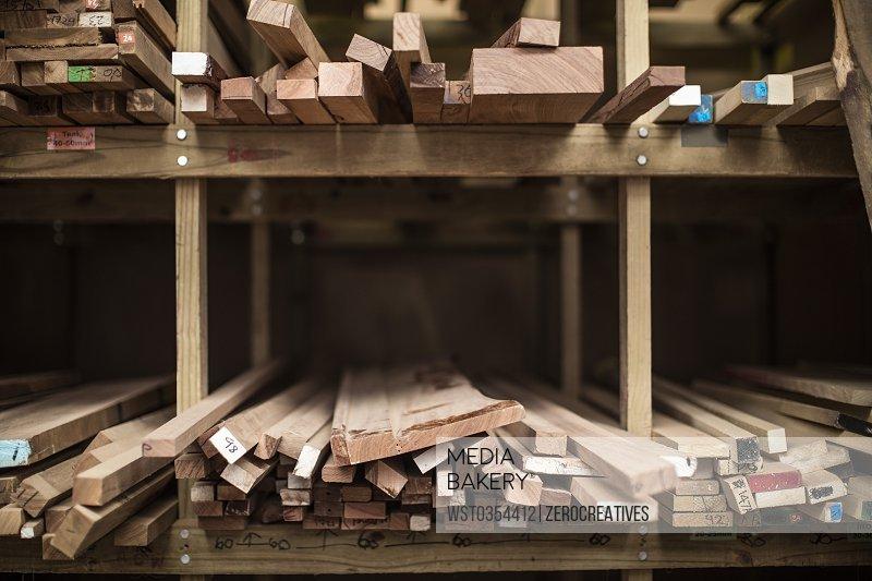 Wood storage in woodwork