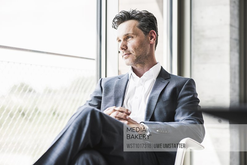 mediabakery photo by westend 61 portrait of businessman looking
