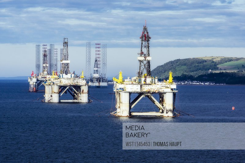 United Kingdom, Scotland, Invergordon, oil platform