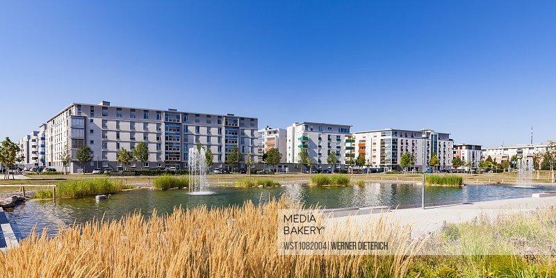Germany, Karlsruhe, Development area City Park