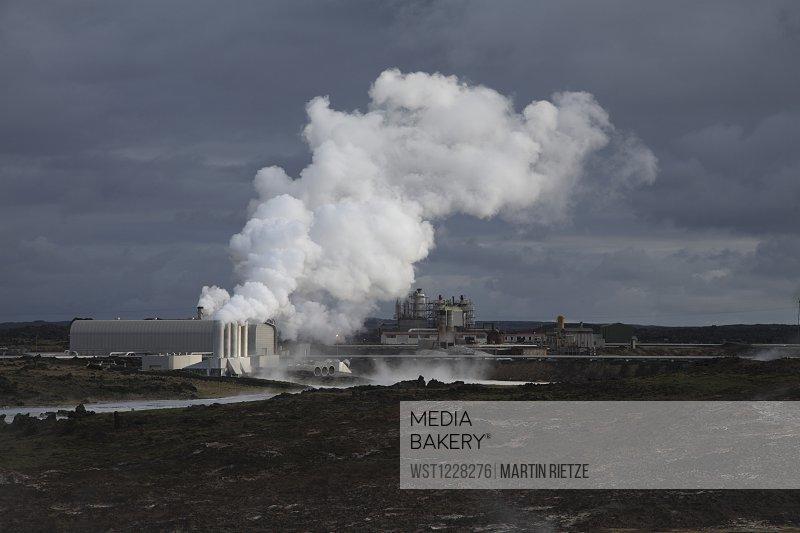 Iceland, Reykjanes peninsula, Geothermal Power Plant