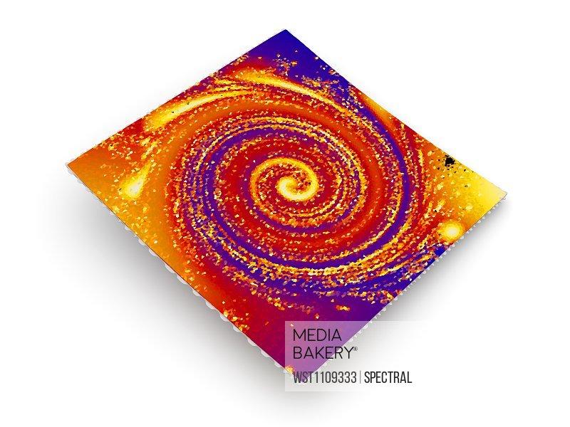 Vibrant LSD blotter, 3d rendering