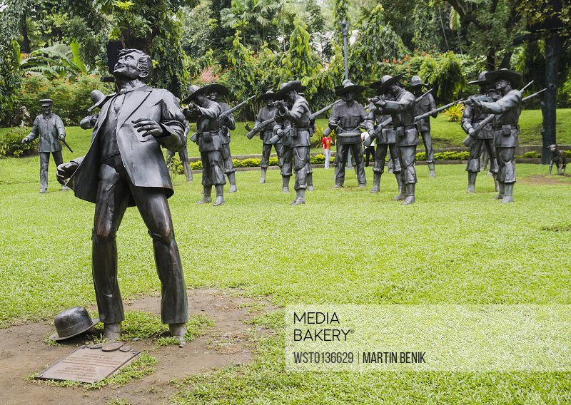 Philippines, Manila, View of Site of Rizal's Execution in Rizal Park