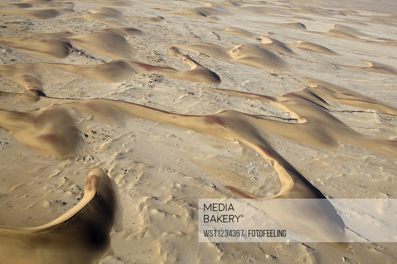 Africa, Namibia, Sand dunes, Aerial view